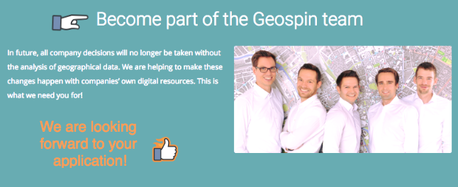** Geospin Is Hiring **