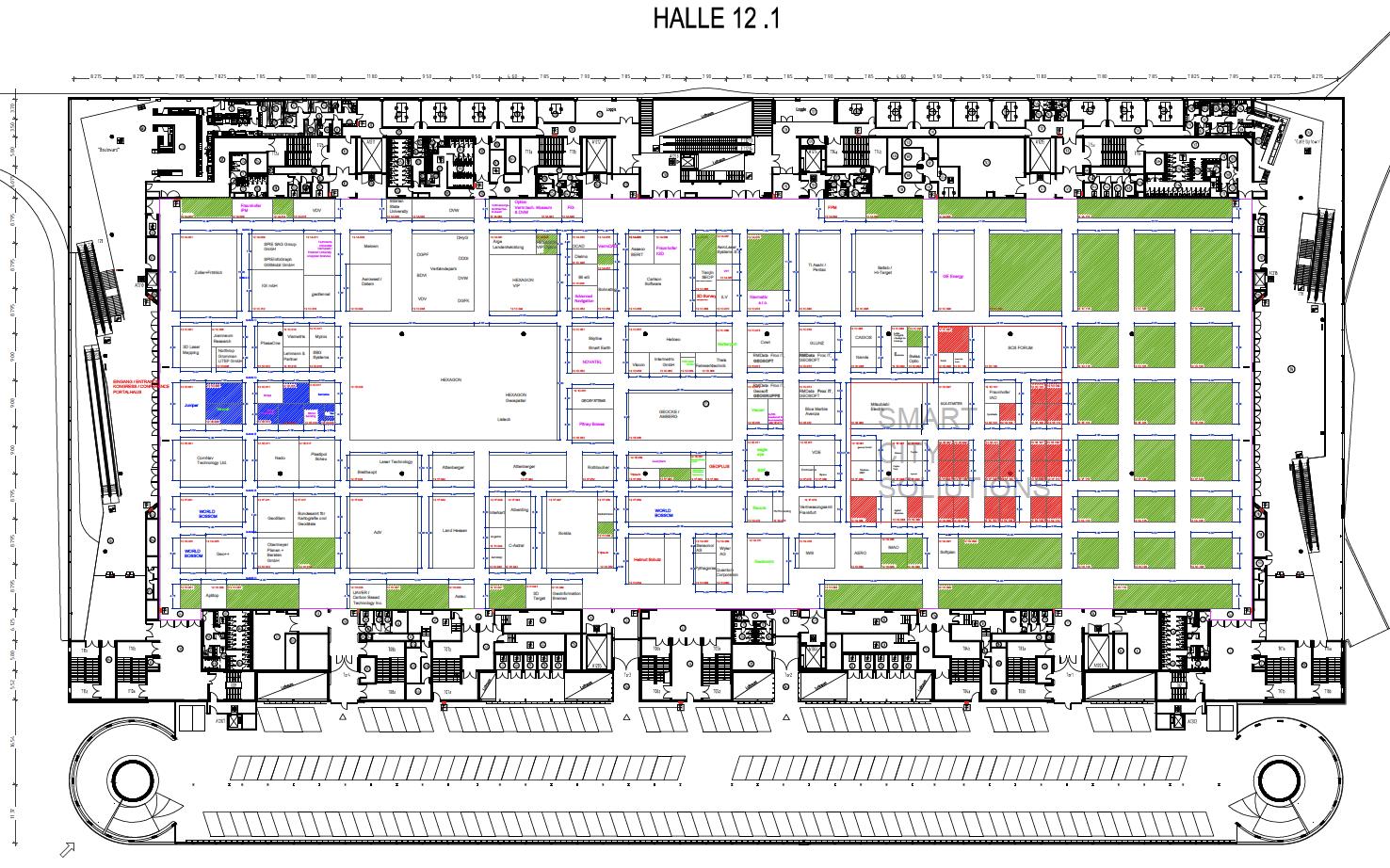 Hallenplan Intergeo