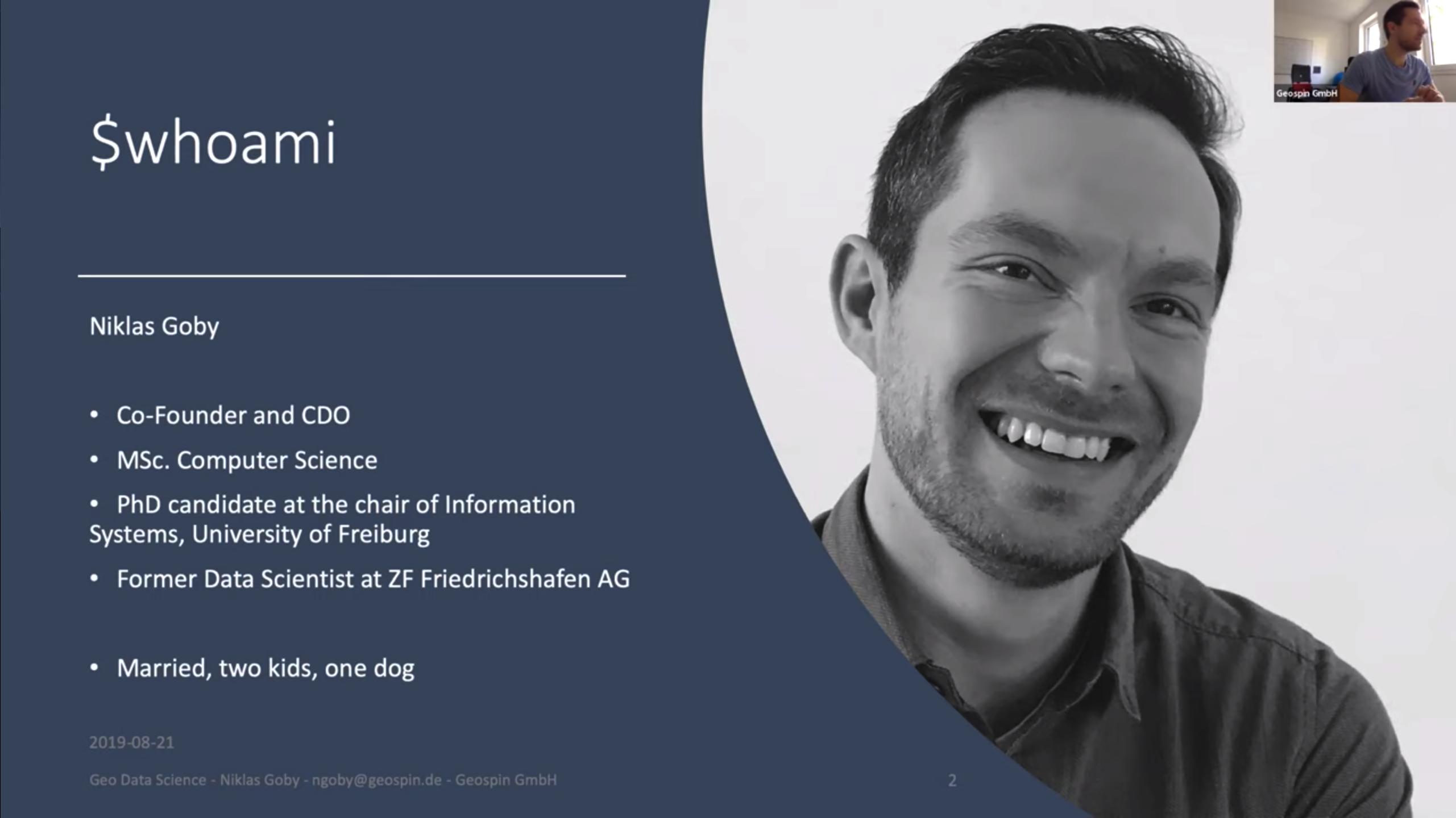 Das Erste Geospin Webinar Mit Niklas Goby