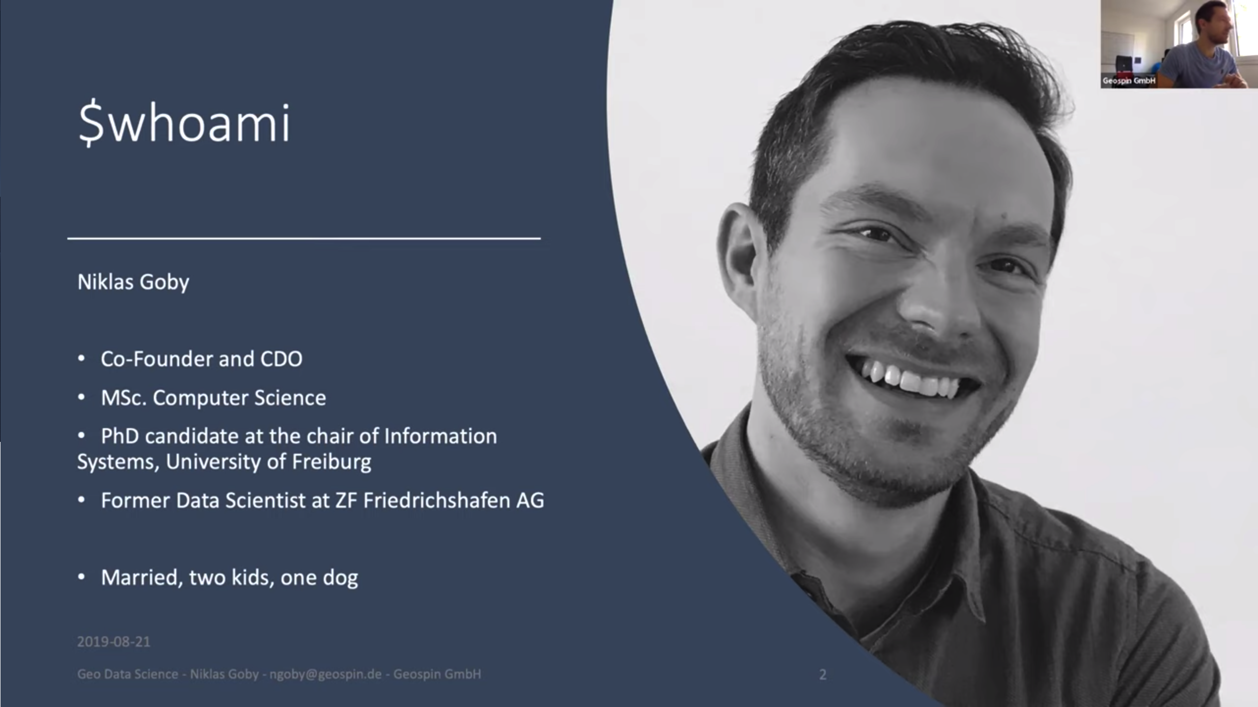 First Geospin Webinar With Niklas Goby – August 2019 (German Only)